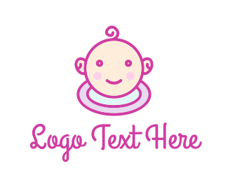 Child Care - Cute Infant Care logo design