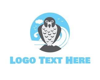 Falcon - Peregrine Falcon logo design
