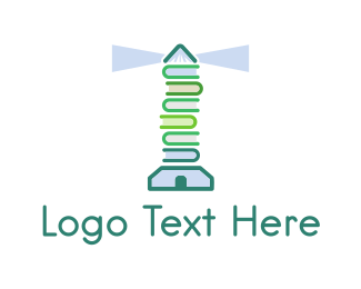 Book Fair - Book Lighthouse logo design