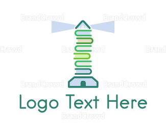 Book Store - Book Lighthouse logo design