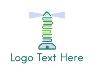 Literacy - Book Lighthouse logo design