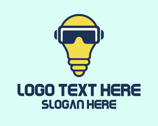 Bulb - Light Bulb Glasses logo design