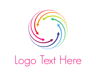 Colorful - Converging Lines logo design