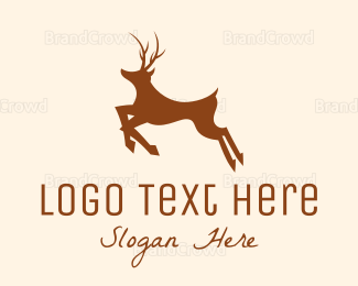 Antlers - Black Deer logo design