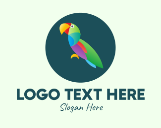 Amazon - Colorful Wild Parrot logo design