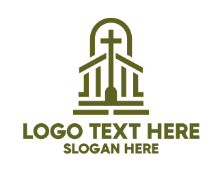 Bible Study - Christian Chapel Cross logo design