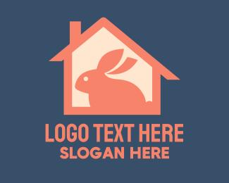 Animal Silhouette - Rabbit House logo design
