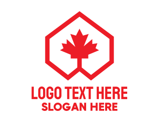 Maple - Red Canadian Maple Geometric logo design