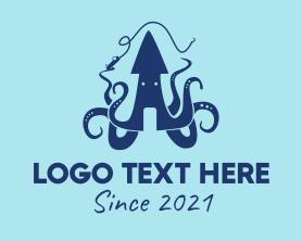 Squid - Squid Fishing Mascot logo design