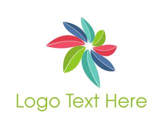 Best - Colorful Leaves  logo design