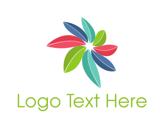 Perspective - Colorful Leaves  logo design