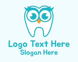 Oral - Dentist Owl Mascot  logo design