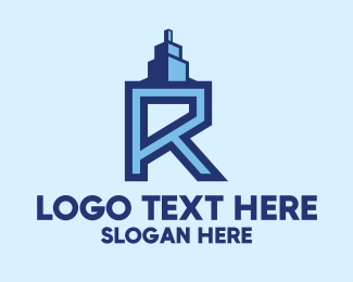Combination - Letter R Realty logo design
