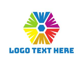 Rainbow Hexagon Logo