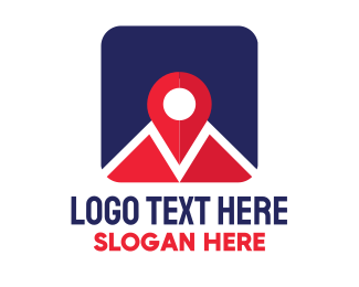 Tracking - Location Pin Map App logo design