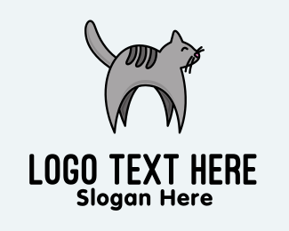Pet Care - Gray Pet Cat logo design