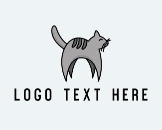 Pet - Gray Pet Cat logo design