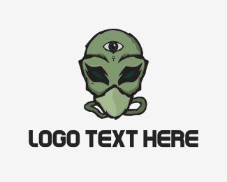 Clan - Masked Alien logo design