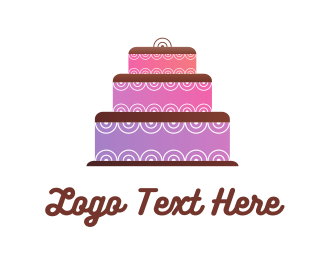 Cupcake - Purple Cake logo design