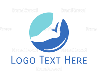 Chiropodist - Foot Check logo design