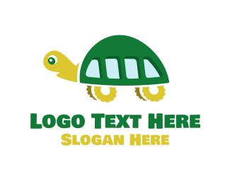 School Bus - Turtle Bus logo design