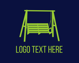 Bench - Porch Swing logo design