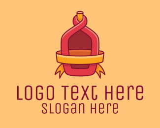 Tequila - Red Alcohol Bottle Flask logo design
