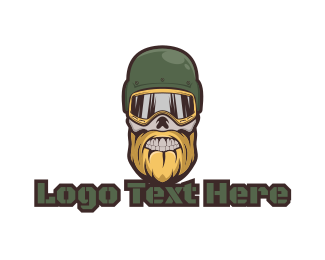Ghoul - Skull Soldier Gaming logo design
