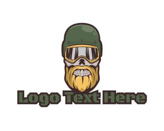 Soldier - Skull Soldier Gaming logo design