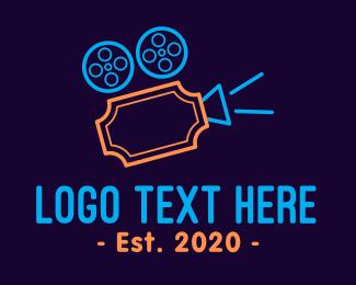 Movie Production - Blockbuster Movie Ticket logo design