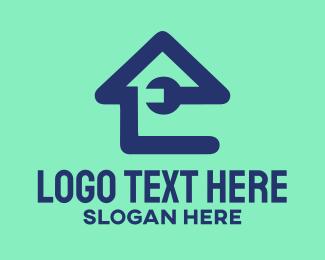 House - Wrench House logo design