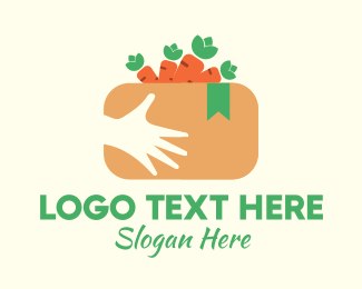 Delivery Service - Carrot Delivery Box logo design