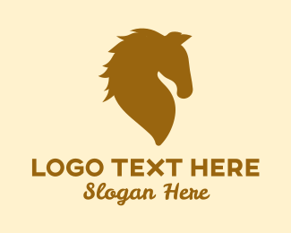 Pony - Golden Horse logo design