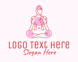 Cardiology - Wellness Yoga Heart Care logo design