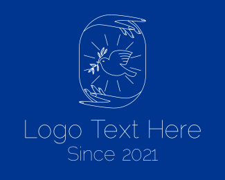 Peace - White Peaceful Dove logo design