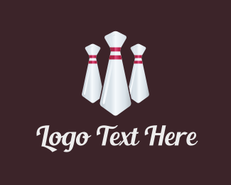 Office - Bowling Tie logo design