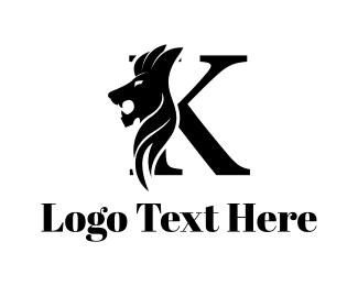 Lion - Feline Letter K logo design