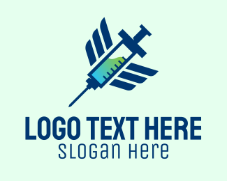 Health Care Worker - Medical Drug Injection logo design
