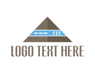 Egypt - Tech Pyramid  logo design