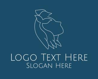 Hair Product - Girl Animal Conservation logo design