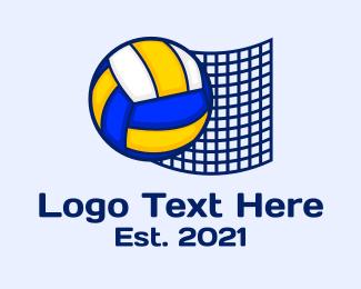 Net - Volleyball  Net logo design