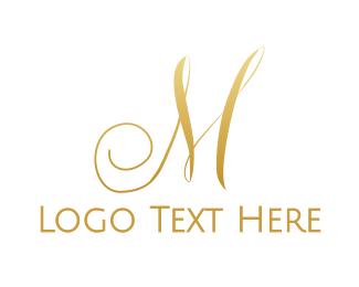 """Gold Script M"" by eightyLOGOS"