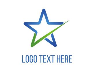 Tick - Star Check logo design
