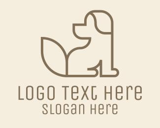 Furries - Brown Dog Monoline logo design