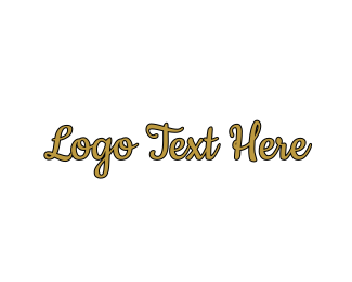 Beauty Products - Gold & Sexy Script Font logo design