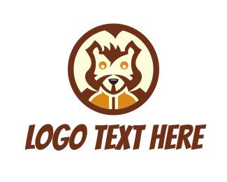 Circular - Squirrel Head logo design