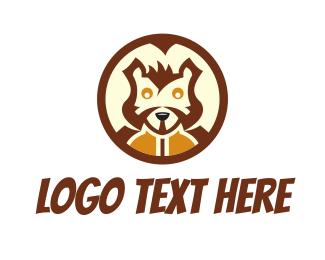 Circular - Squirrel Head logo design