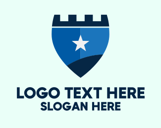 Rook - Star Castle Shield logo design