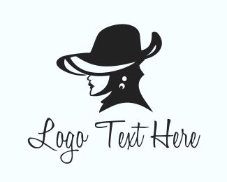 Makeup - Elegant Hat Lady logo design