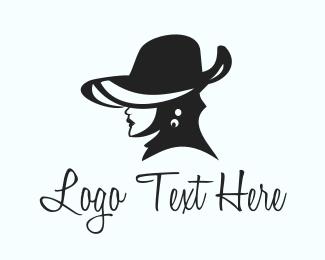 Elegant - Elegant Hat Lady logo design